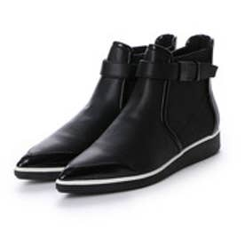 チャールズ アンド キース CHARLES & KEITH Ankle Boot Flats (Black)