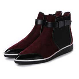 チャールズ アンド キース CHARLES & KEITH Ankle Boot Flats (Burgundy)