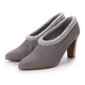 チャールズ アンド キース CHARLES & KEITH Bootie Heels (Grey)