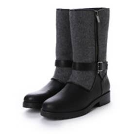 チャールズ アンド キース CHARLES & KEITH Calf Boots Flats (Grey)