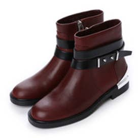 チャールズ & キース CHARLES & KEITH Ankle Boot Flats (Brown)