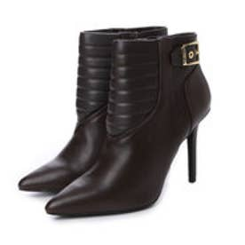 チャールズ & キース CHARLES & KEITH Ankle Boot Heels (Dark Brown)