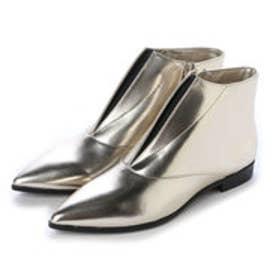 チャールズ & キース CHARLES & KEITH Ankle Boot Flats (Light Gold)