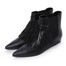 チャールズ & キース CHARLES & KEITH Ankle Boot Wedges (Black)