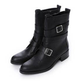 チャールズ & キース CHARLES & KEITH Calf Boots Heels (Black)