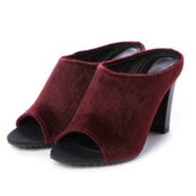 チャールズ & キース CHARLES & KEITH Open Toe Slip On (Burgundy)