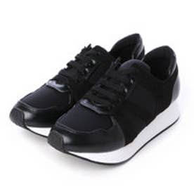 チャールズ & キース CHARLES & KEITH Covered Sneakers (Black)