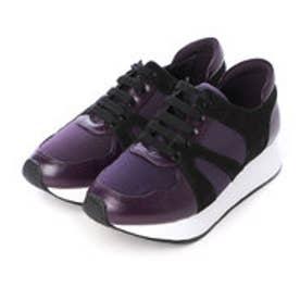 チャールズ & キース CHARLES & KEITH Covered Sneakers (Purple)