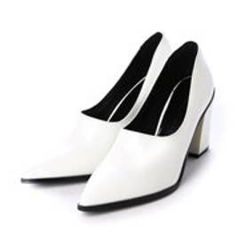 チャールズ & キース CHARLES & KEITH Wallet Pump (White)