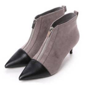 チャールズ & キース CHARLES & KEITH Covered Ankle Boot Heels (Black)
