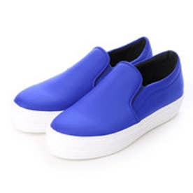 チャールズ & キース CHARLES & KEITH Covered Slip On (Blue)