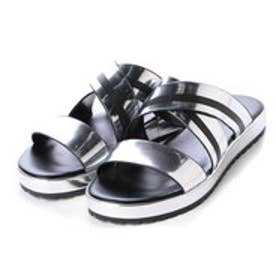 チャールズ & キース CHARLES & KEITH Open Toe Slip On (Silver)