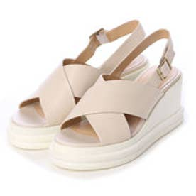 チャールズ & キース CHARLES & KEITH Platform Open Toe Sandals (Beige)