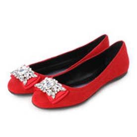 チャールズ & キース CHARLES & KEITH Covered Ballerina (Red)