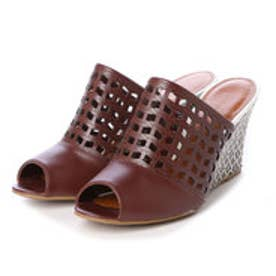 チャールズ & キース CHARLES & KEITH Peep Toe Slip On (Burgundy)