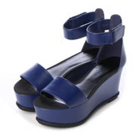 チャールズ & キース CHARLES & KEITH Open Toe Ankle Strap (Navy)