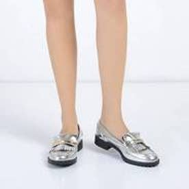 チャールズ & キース CHARLES & KEITH Covered Loafer (Silver)