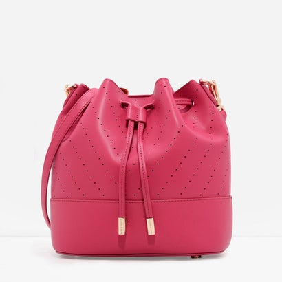 シェブロンディテールバケツバッグ / CHEVRON DETAIL BUCKET BAG(Berry)