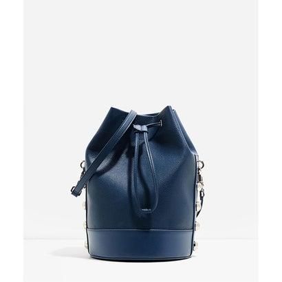 スタッズバケツバッグ / STUDDED BUCKET BAG(Blue)