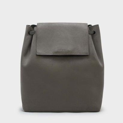 フロントフラップショルダーバッグ / FRONT FLAP SHOULDER BAG (Grey)