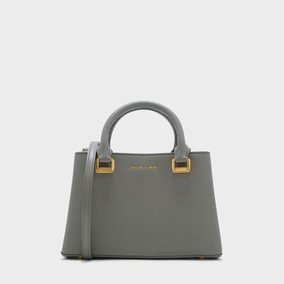 ストラクチャードトップハンドルバッグ / STRUCTURED TOP HANDLE BAG (Grey)