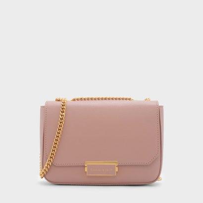 プッシュロックチェーンスリングバッグ / PUSH-LOCK CHAIN SLING BAG (Pink)