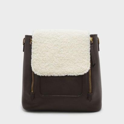 フロントフラップショルダーバッグ / FRONT FLAP SHOULDER BAG (Brown)