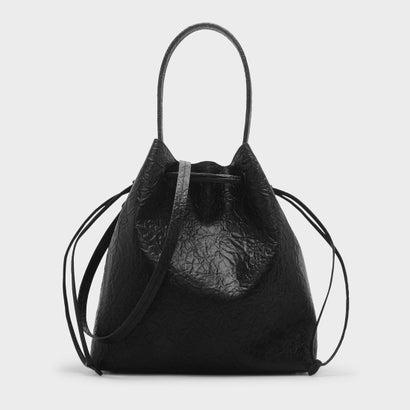 ベーシックドローストリングショルダーバッグ / BASIC DRAWSTRING SHOULDER BAG (Black)