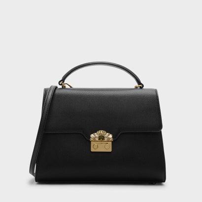 エンベリッシュバックルバッグ / EMBELLISHED BUCKLE BAG (Black)