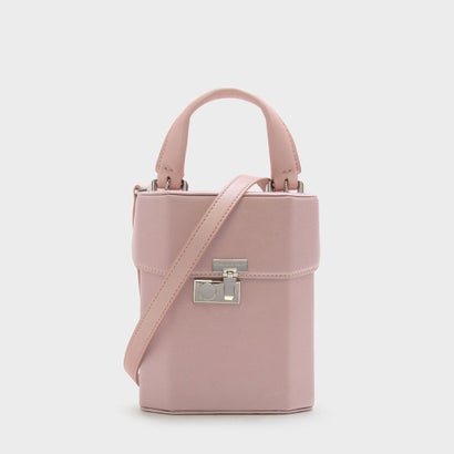 ボクシープッシュロックハンドバッグ / BOXY PUSH-LOCK HANDBAG (Pink)