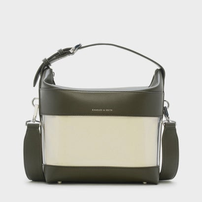 ボクシィトランスペアレンシーショルダーバッグ / BOXY TRANSPARENT SHOULDER BAG  (Olive)