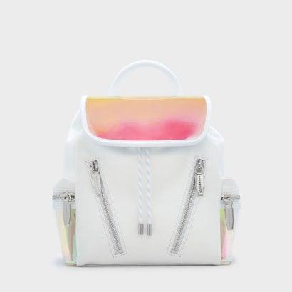 メッシュディテールショルダーバッグ / MESH DETAIL SHOULDER BAG  (White)