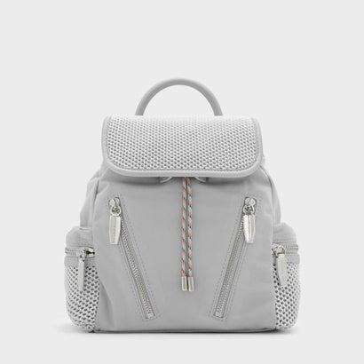 メッシュディテールショルダーバッグ / MESH DETAIL SHOULDER BAG (Grey)