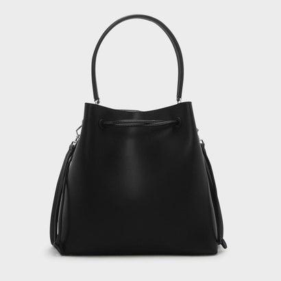 トップハンドルバケットバッグ / TOP HANDLE BUCKET BAG (Black)