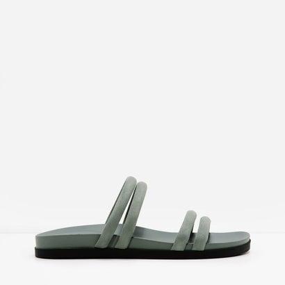 ストラッピースリッポンサンダル / STRAPPY SLIP-ON SANDALS(Green)