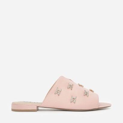 テクスチャードフラットサンダル / TEXTURED FLAT SANDALS (Pink)