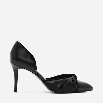 ノットドルセイヒール / KNOTTED D'ORSAY HEELS (Black)