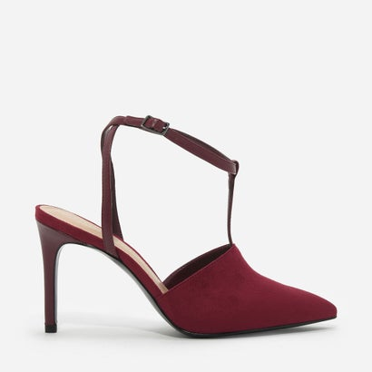 Tバーポインテッドトゥヒール / T-BAR POINTED TOE HEELS (Burgundy)