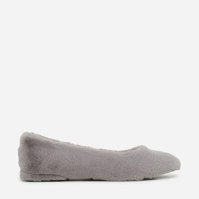 ファーリーバレリーナパンプス / FURRY BALLERINA PUMPS (Grey)