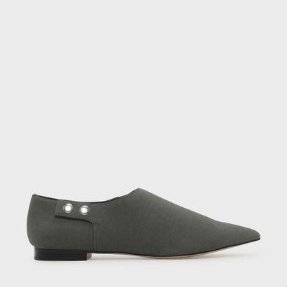 ポインテッドトゥフラット / POINTED TOE FLATS (Grey)