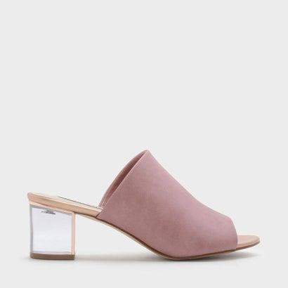 ルーサイトヒールサンダル / LUCITE HEEL SANDALS (Pink)