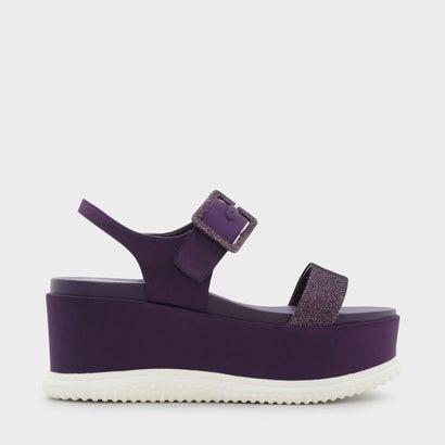 グリッターフラットフォームサンダル / GLITTER FLATFORM SANDALS (Purple)