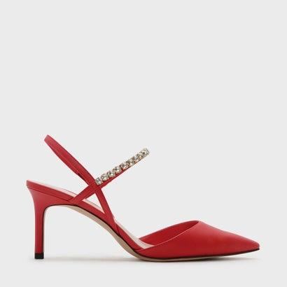 エンベリッシュストラップヒール / EMBELLISHED STRAP HEELS (Red)