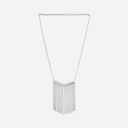 チェーンタッセルネックレス / CHAIN TASSLE NECKLACE(Silver)