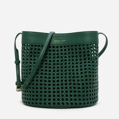 ウーブクロケットショルダーバッグ / WEAVED CROCHET SHOULDER BAG (Green)