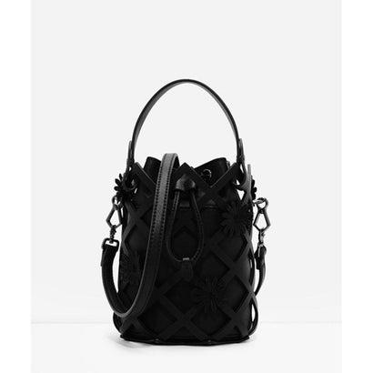 フローラルラティスバッグ / FLORAL LATTICE BAG (Black)