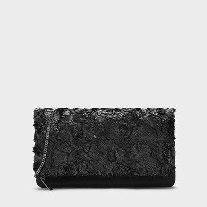 ファーリークラッチ / FURRY CLUTCH (Black)