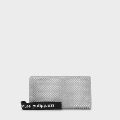 メッシュディテールロングウォレット / MESH DETAIL LONG WALLET (Grey)
