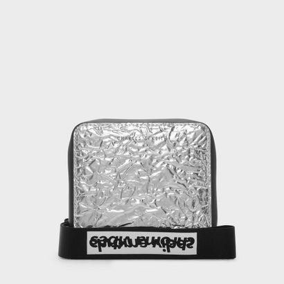 テクスチャードスクエアショートウォレット / TEXTURED SQAURE SHORT WALLET (Silver)