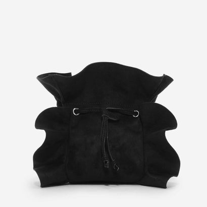ラッフルディテールスリングバッグ / RUFFLE DETAIL SLING BAG (Black)